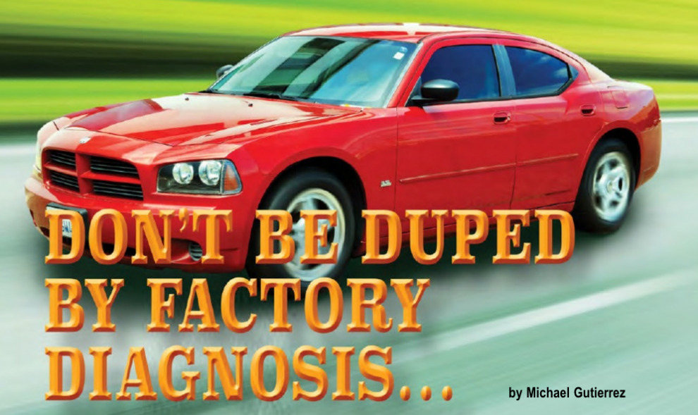Gears Magazine   Don't Be Duped by Factory Diagnosis