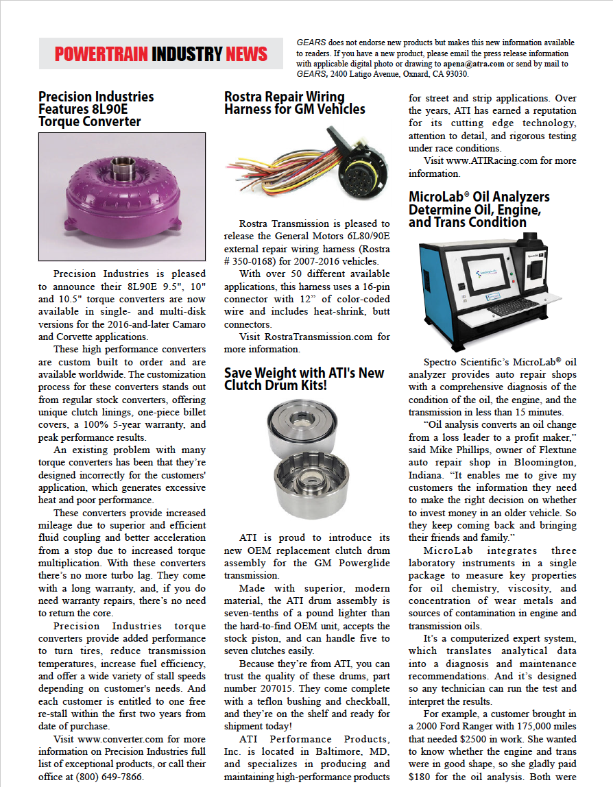 Gears Magazine | Powertrain Industry News