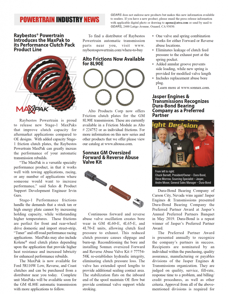 Gears Magazine | powertrain industry news page