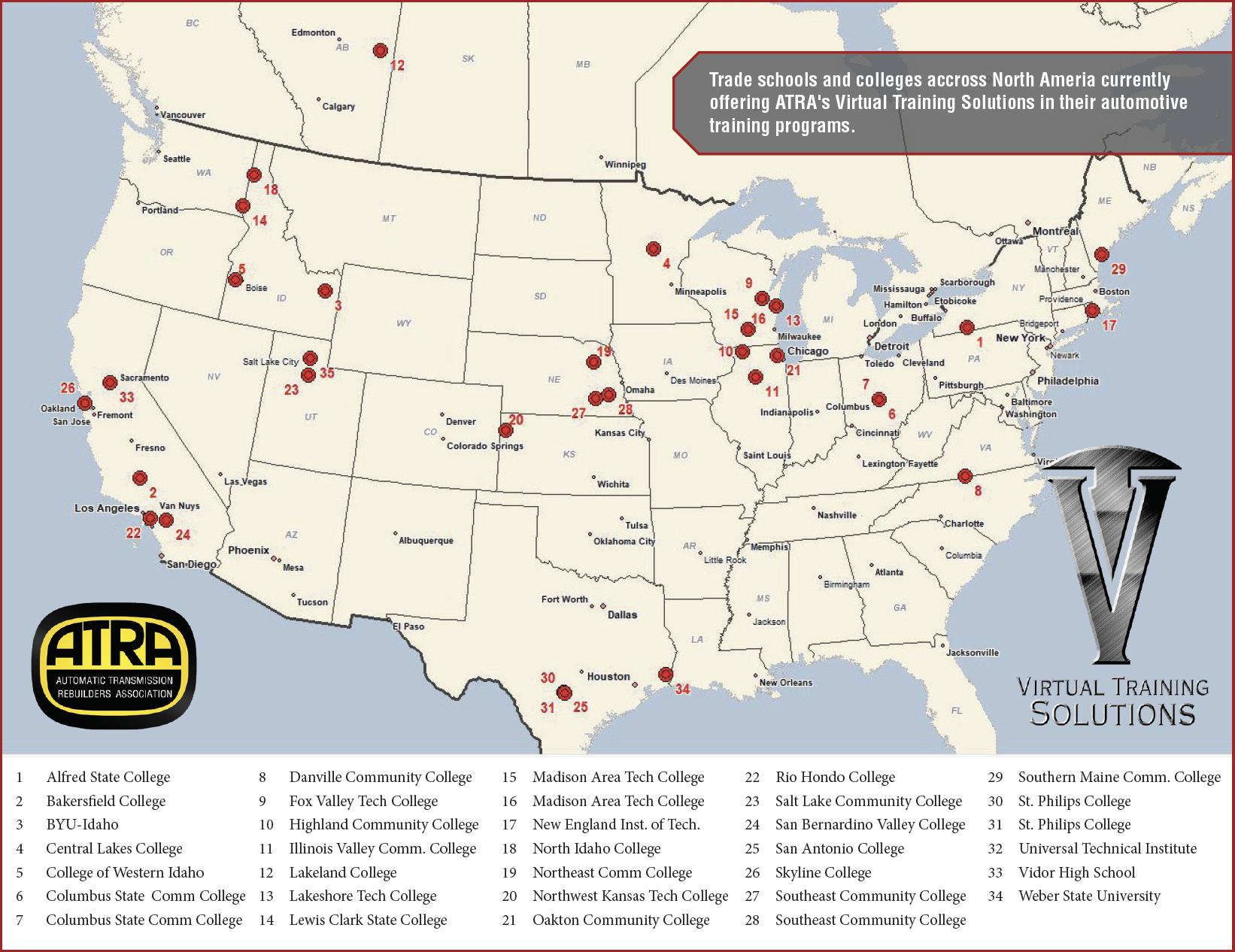 trade school map