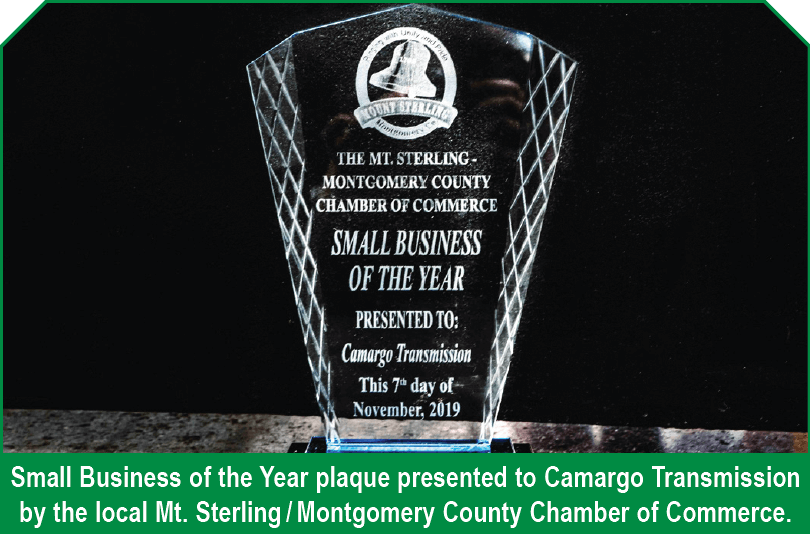 small business of year plaque
